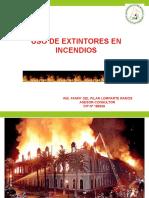 6. USO DE EXTINTORES EN INCENDIOS