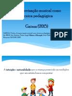 Princípios da educadora musical Violeta Gainza