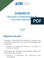 PCC 3222 Retração e concreto endurecido 2019