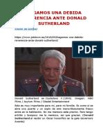 HAGAMOS UNA DEBIDA REVERENCIA ANTE DONALD SUTHERLAND