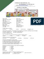 ATIVIDADE DE INGLÊS (INTERPRETAÇÃO E COMPREENSÃO) TIRINHA