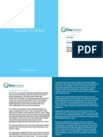 Executive Position Profile - CFO - One Vision