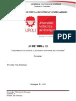 Auditoria III GUÍA PREGUNTAS EN BASE AL DOCUMENTO INFORME DE