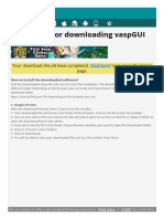 vaspGUI - Thank you for Download