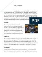 problemas sociales más graves de Guatemala y el sustantivo