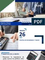 SESION 26 - POLÍTICA DE DIVIDENDOS Y PAGOS