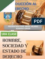 DIAPOSITIVAS INTRODUCCION AL DERECHO 2017-2