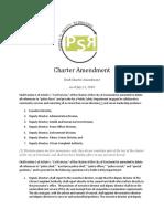 PSRe Charter Amendment