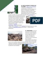 EL DESPLASAMIENTO EN COLOMBIA