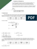 pruebas y determinar experimentalmente los parámetros del circuito equivalente del moto