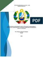 Norma interna del PROCEDIMIENTO DEL APOYO ALIMENTARIO EL COLLAO Ilave. Revisado y Modificado