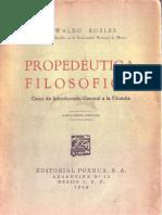 Propedéutica Filosófica Oswaldo Robles