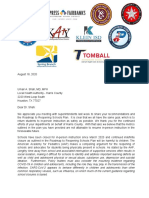 10 superintendents' letter to Dr. Umair Shah