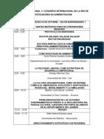 1. cronograma I CONGRESO INTERNACIONAL Y II CONGRESO NACIONAL DE LA RED DE INVESTIGADORES EN ADMINISTRACIÓN (1).pdf