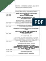 cronograma I CONGRESO INTERNACIONAL Y II CONGRESO NACIONAL DE LA RED DE INVESTIGADORES EN ADMINISTRACIÓN (1)