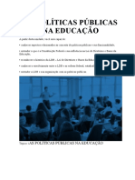AS POLÍTICAS PÚBLICAS NA EDUCAÇÃO
