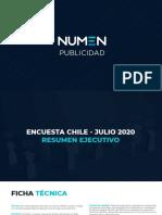 Encuesta Comando Rechazo - Julio 2020