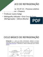 CICLO BÁSICO DE REFRIGERAÇÃO