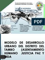 MODELO DE DESARROLLO URBANO ( JUSTICIA PAZ Y VIDA)