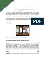 FUNCIONAMIENTO DE UN MOTOR TÍPICO DE GASOLINA DE CUATRO TIEMPOS