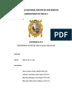 CARATULA DE LOS INFORMES DE FISICA