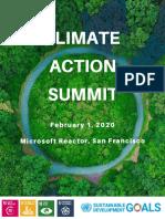 climate action summit - speaker bios