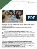 Gobierno evaluará con líderes sociales ataques de grupos armados en Nariño _ La FM