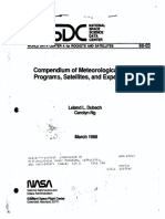 Compenmdium of Meteorological Space Programs, Satellites, and Experiments