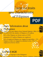 The Common traits and characteristic of Filipinos - Copy