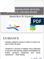 GUIDANCE AND DISCIPLINE1