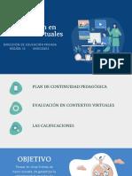 La Evaluación en contextos virtuales (1)