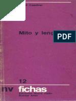 Cassirer, Ernst. - Mito y lenguaje [1973]