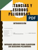 SUSTANCIAS Y RESIDUOS PELIGROSOS