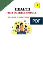HEALTH 7 MODULE FINALIZE