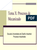 Tema 10 - Procesos De Mecanizado (Diapositivas)