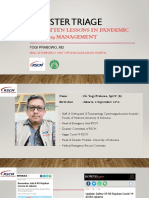Disaster Triage  Forgotten Lessons in Pandemic Covid-19 Management - dr. Yogi Prabowo, SpOT(K)