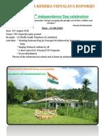 Vivekananda Kendra Vidyalaya Kuporijo Independence Day 2020