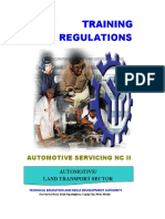 AUTO SERVICE REGULATIONS
