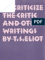 TS Eliot To Criticize the Critic & Other Writings - Αντίγραφο.pdf