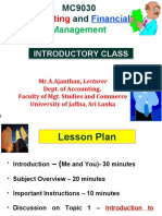 Intrdocution to Financial Management