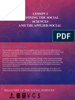 Lesson 1 Introduction of Social Sciences and Applied Social Sciences