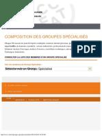 Composition des Groupes Spécialisés - CCFAT