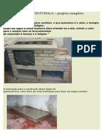 FOGÃO A LENHA SEM FUMAÇA  projeto completo e detalhado