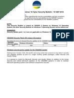 2018 - 08 VIDAS 3 Windows 10 Cyber Security Bulletin