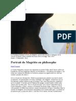 Portrait de Magritte en philosophe