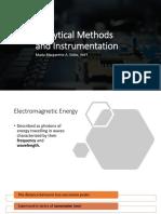 Week 4 Analytical Methods and Instrumentation