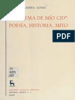 Badera Gomez, Cesareo - El Poema de mio Cid  poesia, historia, mito