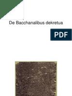 De Bacchanalibus dekretua