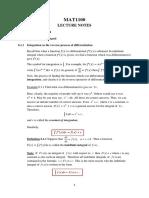 MAT1100 Integral Calculus I - 2020
