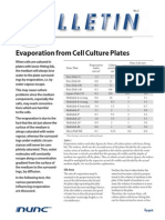 evaporation in culture plates